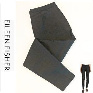 Eileen Fisher Waxed Pull On Jeans/Dark Grey